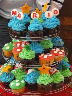 Super Mario Cupcakes by CakEngineer, via Flickr