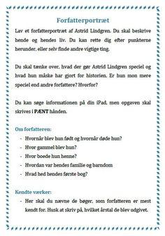 Skriveøvelser Teaching Schools, 13 Year Olds, My Job, Homeschool, Language, Classroom, Writing, Education, Astrid Lindgren