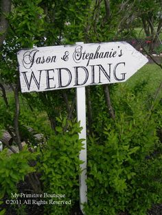 WEDDING ARROW,  Reception Arrow, Wedding Sign, Directional Arrow, Beach Wedding, Custom Wedding Sign. $49.00, via Etsy.