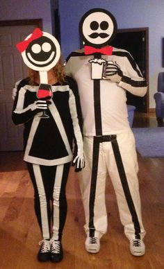 Stick figure costume - Crafts For Boys Costume Halloween, Halloween Make, Creative Halloween Costumes, Holidays Halloween, Halloween Decorations, Stick Figure Costume, Monster Inc Costumes, Game Costumes, Maquillage Halloween