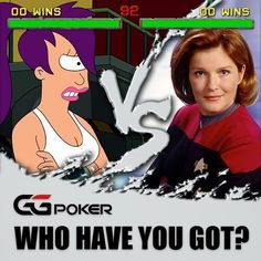 Who takes it in a heads-up game Captain Leela or Captain Janeway? They're both badasses but only one can leave a winner. #ggpoker #GGVersus #poker #pokerlife #futurama #startrekvoyager #startrek #captainjaneway #leela