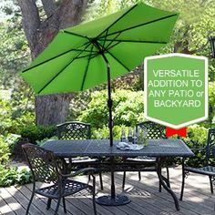 Are you thinking about adding a patio umbrella to your backyard or pool area? Bring style to the outdoor space with an ultimate set. Outdoor Patio Umbrellas, Aluminum Patio, Market Umbrella, Living Room Designs, Living Rooms, Outside Living, Essentials, Outdoor Stuff