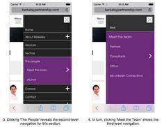 mobile menu design - Google Search