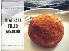 Get your Bake On: Meat Ragu Arancini  These traditional Sicilian risotto balls are a meal in one! Risotto, minced beef ragu, peas, all fried in breadcrumbs. Delicious!  A labour of love but totally worth it! Give this Italian street food a whirl. You won't be disappointed!
