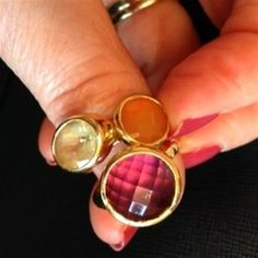 MV stacking rings 💎💍💎 by Linda Personal Taste, Stacking Rings, January, Gemstone Rings, Jewellery, Gemstones, Style, Swag, Jewels