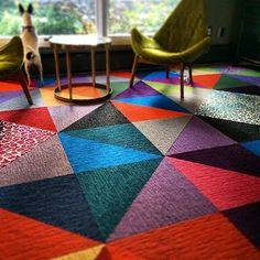 Carpet Tiles: Modern Carpet Squares for Customized Rugs Carpet Decor, Diy Carpet, Modern Carpet, Carpet Ideas, Floor Carpet Tiles, Office Carpet, Orange Carpet, Shaw Carpet, Rental Decorating