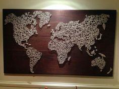 String art carte monde