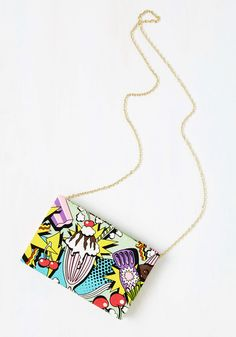 Cherry On Pop Bag. Wardrobe blahs' are easily transformed into pows of panache with this comic-inspired bag enhancing your ensemble! #multi #modcloth