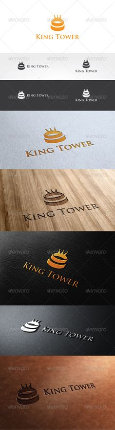 King Tower Logo Template — Photoshop PSD #branding #illustration • Available here → https://graphicriver.net/item/king-tower-logo-template/2957919?ref=pxcr