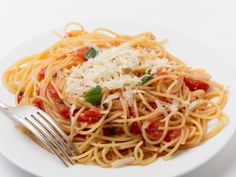 Best angel hair or capellini pasta recipe on pinterest Ina garten capellini with tomatoes and basil