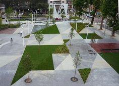 Qual a primeira imagem referente àpraça que vem asua cabeça?Geralmente, um espaço público com chafariz, jardim, bancos espalhados e, muitas v