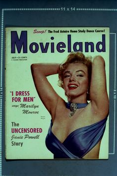 Marilyn Monroe on the cover of Movieland