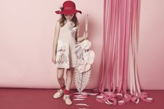 Pink themed kids fashion shoot by Melanie Rodriguez for Collezioni Bambini magazine