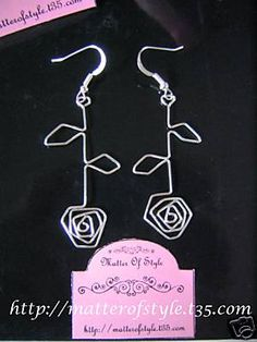 Wire roses earrings  A Matter Of Style: DIY Fashion