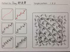 133 tangle pattern  by Damy Border Swirly