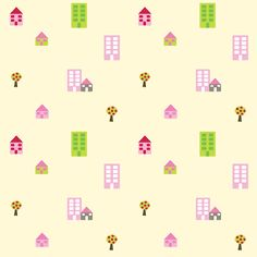free digital tiny houses scrapbooking paper: printable DIY wrapping paper