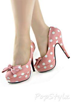 edcb5829b27 Polka Dot Platform Stilettos Shoes Uk