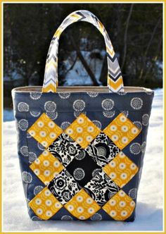 No Zippers, No Pockets, Easy-to-Sew Patchwork Tote Bag!