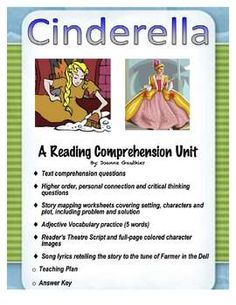 This Cinderella unit has a range of activities, including text, personal and critical thinking questions, story mapping and drama and singing, to help you cater to the different needs in your classroom and to allow your students to have fun with literacy. Critical Thinking Activities, Teaching Activities, Reading Strategies, Reading Comprehension, Language And Literature, Language Arts, Fractured Fairy Tales, Fairy Tales Unit, Common Core Reading