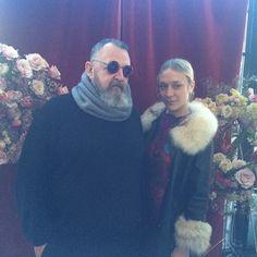 """Michel Gaubert and Chloe Sevigny #michelgaubert #chloesevigny"""