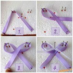 Jak vyrobit svatební vývazky mašličky na myrtu