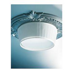 ÅRSTID Ceiling lamp, white 18. * Ikea hack / design : ceiling mount crown molding / paint* ...