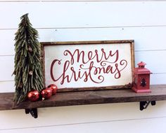 Merry Christmas Sign Rustic Christmas Sign by sophisticatedhilbily                                                                                                                                                                                 More