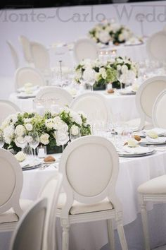 Can't go wrong with a white and green theme. Wedding by Monte-Carlo Weddings