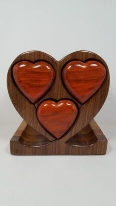 Jewelry Box Heart Shape with 3-drawers BX0248 by WoodArtBoxes