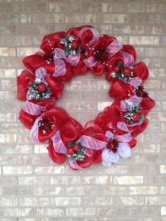 large deco mesh wreath