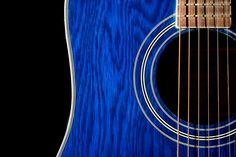 Blue Acoustic Guitar is a joy to play.