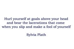 The artist's approach from Sylvia Plath, who would have turned 80 this week
