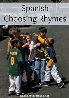 Spanish choosing rhymes teach kids culture, vocabulary and pronunciation. 12 Spanish rhymes to start games with basic vocabulary for Spanish learners.