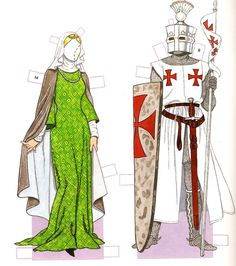 MEDIEVAL PERIOD 1200 - 1350 | COSTUMES  by Tom Tierney