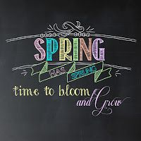 i should be mopping the floor: Friday's Freebie: Spring Has Sprung Chalkboard Printable