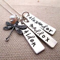 Personalized Jewelry - Day Dream - Mothers Necklace - hand stamped jewelry