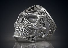 Ring Masonic Skull Freemasons Ring 3D Модель .max .c4d .obj .3ds .fbx .lwo .stl @3DExport.com by Roman.Kharikov