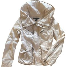 Marc by Marc Jacobs light coat / jacket Lovely light coat/thick jacket. Lots of hardware detailing. Barely worn. Has a zippered collar with hidden hood. Cotton. Flattering, fitted style. It's a puffy coat, but not super warm. Marc by Marc Jacobs Jackets & Coats