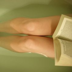 hot bath+book+glass of wine or tea(depending on the day)=perfection