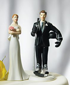 For a hockey loving groom. Just need a hockey loving bride! Maybe I'll give it to my brother as a gift one day! Ha!
