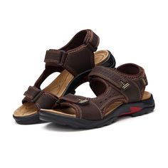 Large Size Summer Men Leather Sandals Leather Breathable Sandals Outdoor Beach Shoes  Worldwide delivery. Original best quality product for 70% of it's real price. Hurry up, buying it is extra profitable, because we have good production sources. 1 day products dispatch from warehouse. Fast...