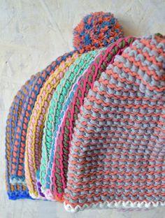Tunisch gehaakte mutsen! Tunisian crochet byClaire patroon