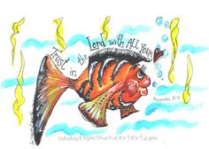 Boy Fish Print (Proverbs 3:5)