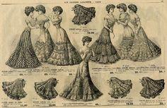 women in 1900 - vintage newspaper vintage fashion plate
