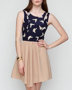 I love this cute summer dress<3 I love the color and the harmony:):) The bird is cute and i think i'm gonna buy this dress:)