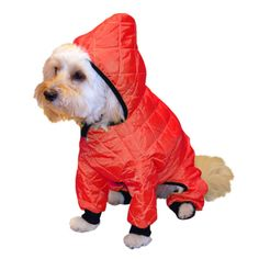 Pedigree Perfection RN101Q-06-RED Weather Master Quilted Rain Suit for Your Dog, 6-Size, Red -- Quickly view this special  product, click the image (This is an amazon affiliate link. I may earn commission from it)