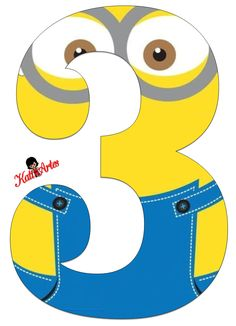 Minion printable party banner: numbers and alphabet a-z Minion Mask, Minion 2, Minion Theme, Minion Party, Minion Birthday Banner, 3rd Birthday Parties, Birthday Party Decorations, Party Themes, Minion Classroom