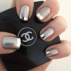 Manicure goals! #chanel #mani#nails#metallic#get#strip#beauty#polish#love#inspo
