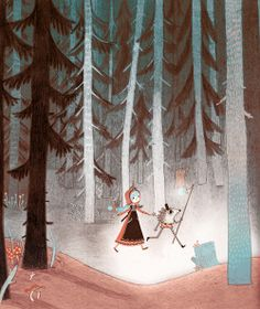 "Illustrated Ladies_""Russian Fairy Tales"" by Isabella Mazzanti"