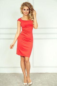 Luxusní dámské korálové elegantní šaty SaF e57a414d3c
